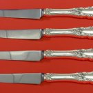 Grand Duchess by Towle Sterling Silver Steak Knife Set 4pc HHWS  Custom 8 1/2""