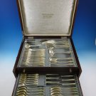 "Bremer German 800 Silver Flatware Set For 12 Service 58 Pieces ""W"" Monogram"