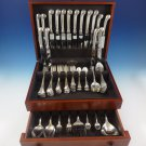 Onslow by Tuttle Sterling Silver Flatware Service For 8 Set 85 Pieces Old