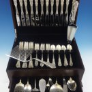 Rose Point by Wallace Sterling Silver Dinner Size Flatware Set 12 Service 60 Pcs