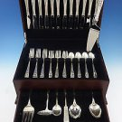 Queen's Lace by International Sterling Silver Flatware Set 12 Service 55 Pieces