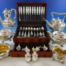 Chrysanthemum by Tiffany and Co Sterling Silver Flatware Set for 12 + Tea Set
