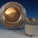 Nursery Rhyme by Gorham Sterling Silver Child'S Set 2pc Cup & Plate (#0875)