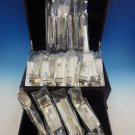 Rose Point by Wallace Sterling Silver Flatware Service For 6 Set 28 Pieces New