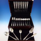 Queen's Lace by International Sterling Silver Flatware Set Dinner Service 45 Pcs
