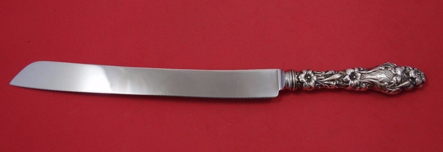 Lily by Whiting Sterling Silver Wedding Cake Knife Original 12 1/2""