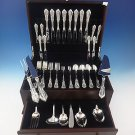 Rose Point by Wallace Sterling Silver Flatware Set For 8 Service 57 Pieces