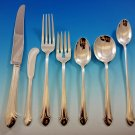 Romantique by Alvin Sterling Silver Flatware Set for 12 Service 90 pcs Dinner