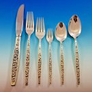 Meadow Song by Towle Sterling Silver Flatware Set 8 Service 56 pcs