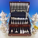 Grande Baroque by Wallace Sterling Silver Flatware Set 12 Dinner Size + Tea Set