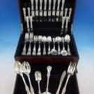 King George by Gorham Sterling Silver Flatware Set 8 Service 62 pcs Dinner Size