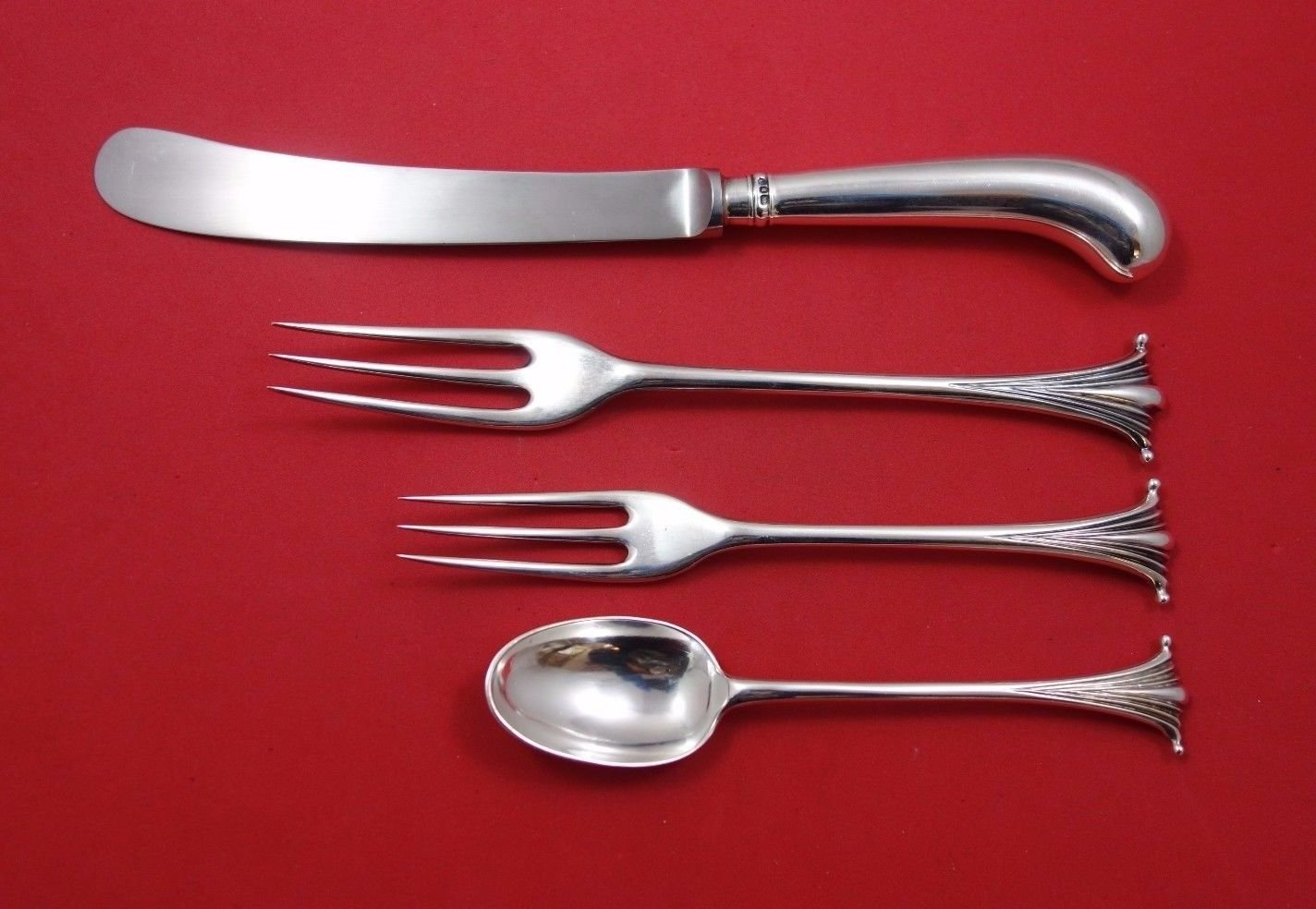 Scroll by James Robinson Sterling Silver Dinner Size Place Setting(s) 4pc