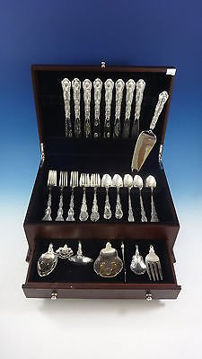 Strasbourg by Gorham Sterling Silver Flatware Place Size Set 8 Service 50 Pieces