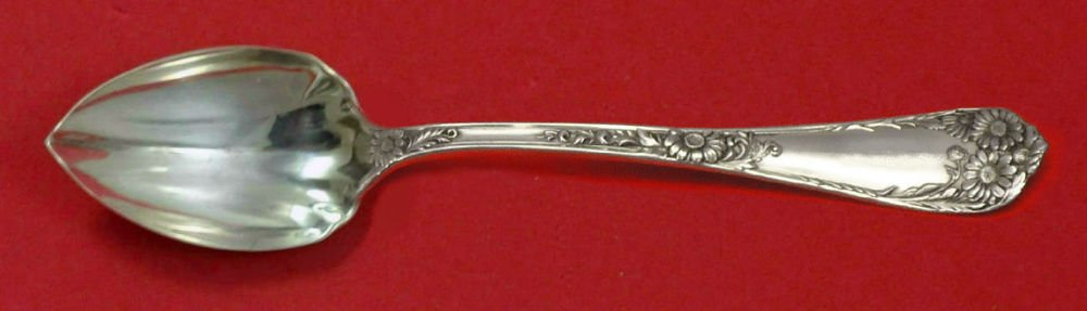 "Wellesley by International Sterling Silver Grapefruit Spoon Fluted Custom 5 3/4"""