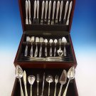 White Paisley by Gorham Sterling Silver Flatware Service For 12 Set 81 Pieces