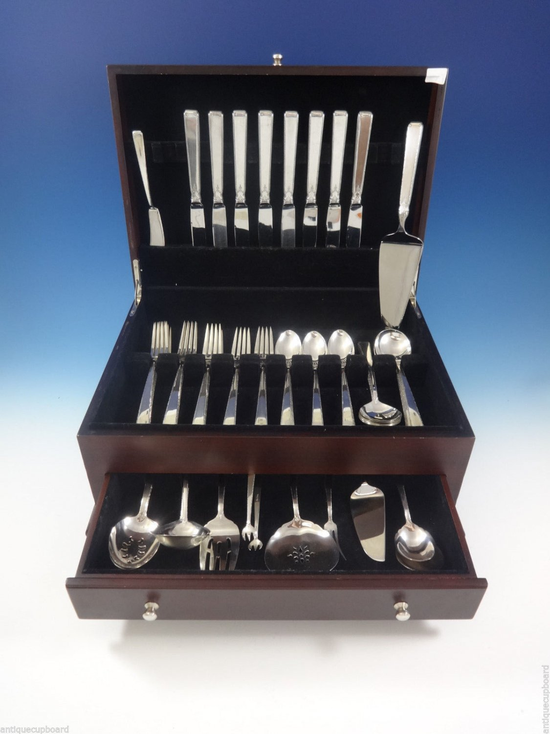 Old Lace by Towle Sterling Silver Flatware Set For 8 Service 53 Pcs Many Servers