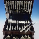 Rose Point by Wallace Sterling Silver Dinner Size Flatware Set 12 Service 78 Pcs