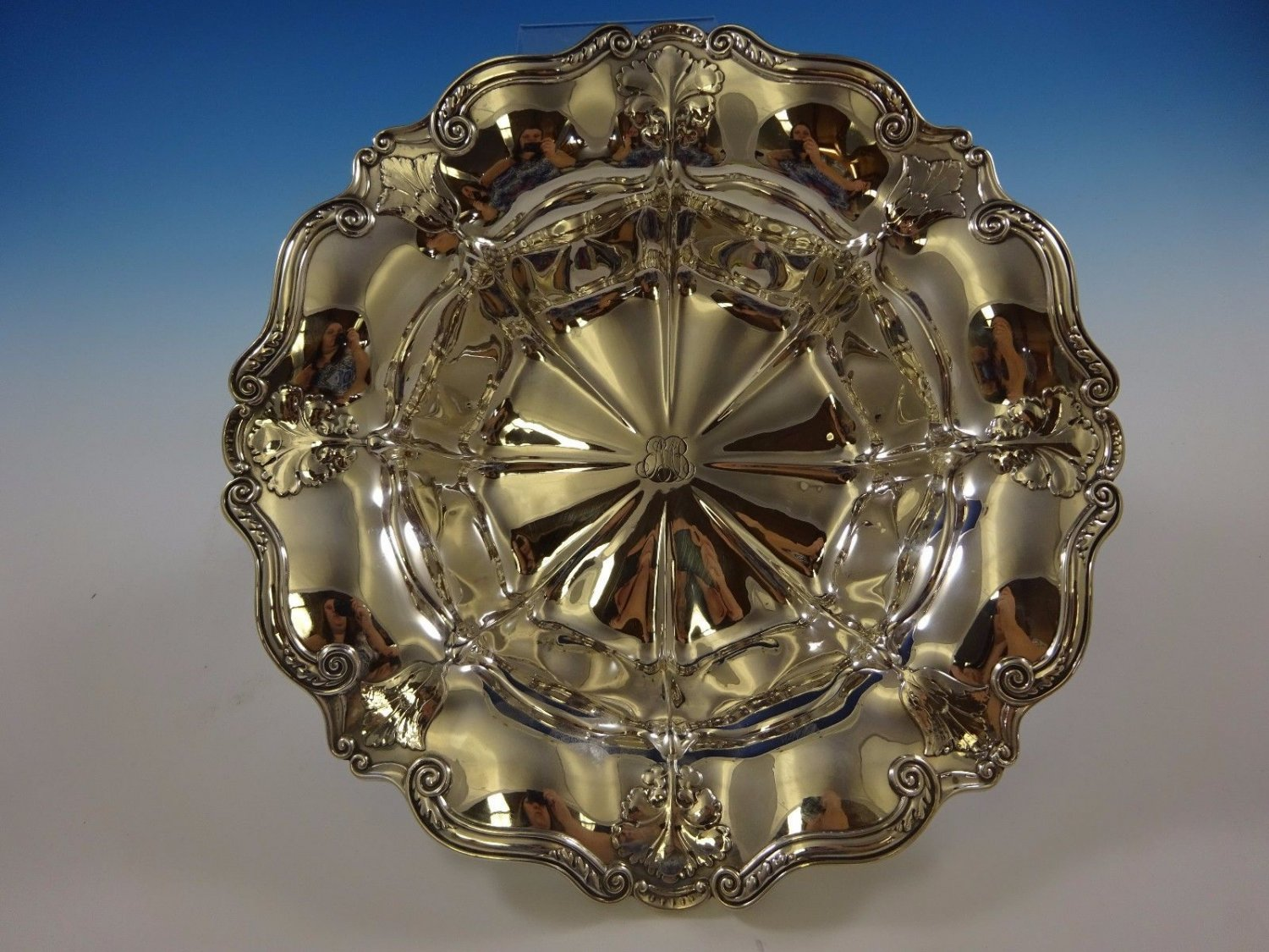 """Athenic by Gorham Sterling Silver Fruit Bowl #A3038 2 1/2"""" X 12 1/2"""" (#1084)"""