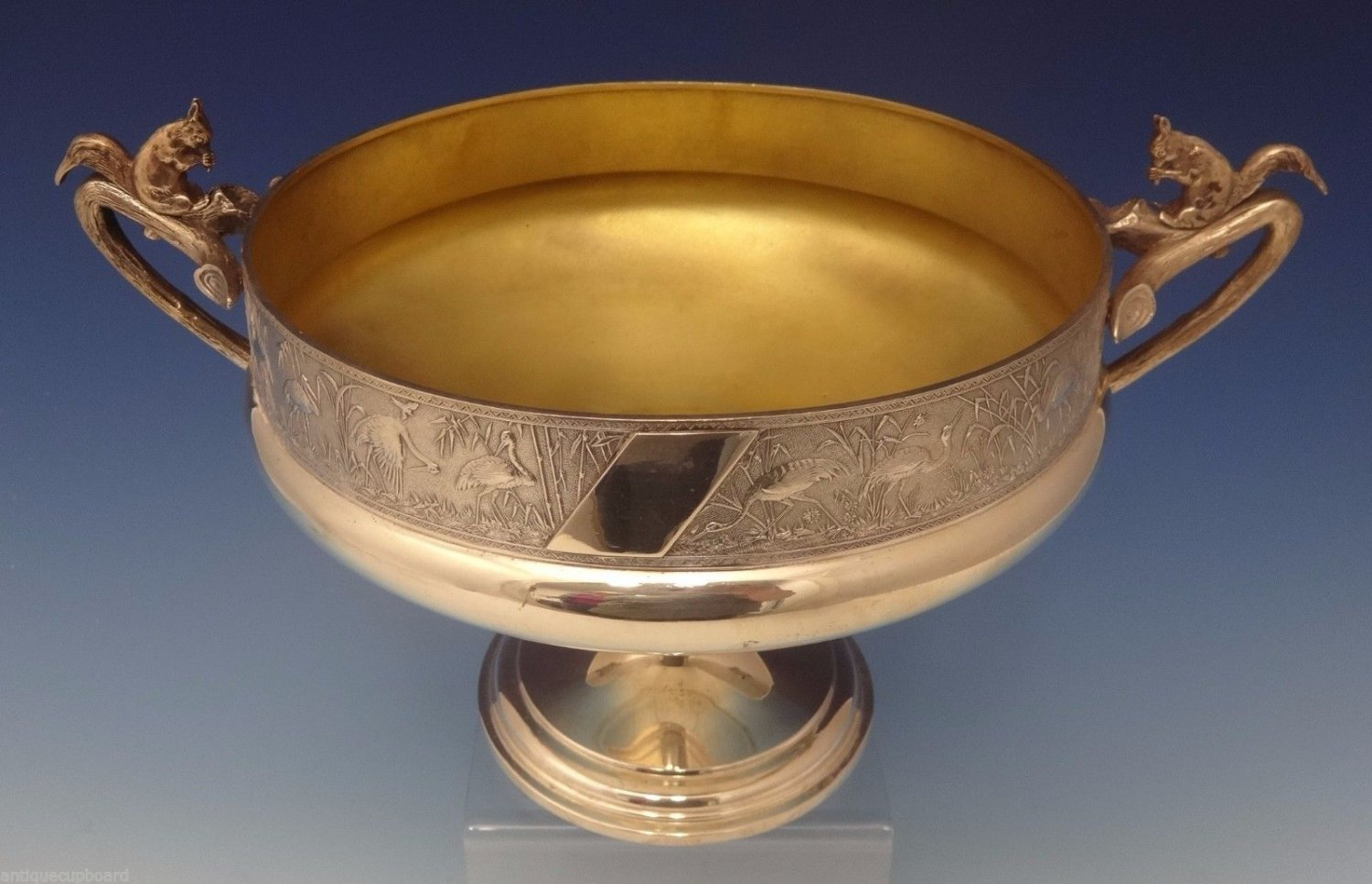 Whiting Sterling Silver Master Nut Bowl On Pedestal w/3-D Squirrels (#0744)