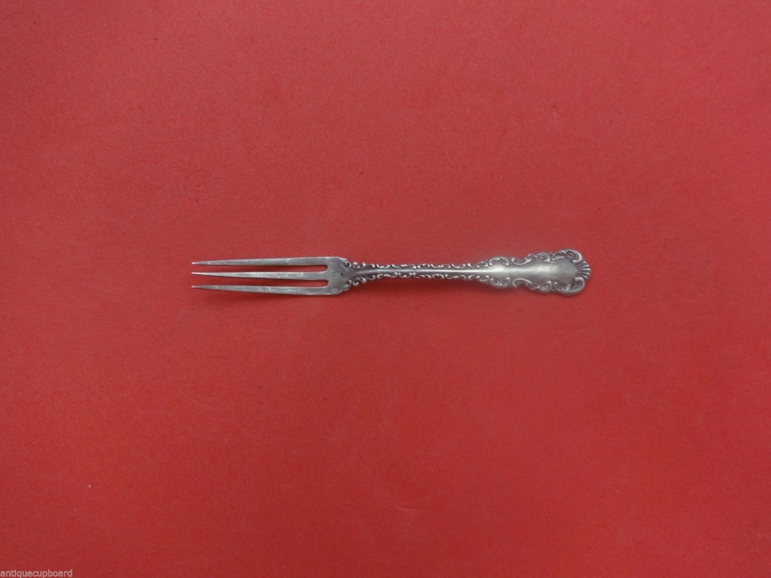 Louis XV by Whiting Sterling Silver Strawberry Fork 3-Tine 4 1/2""