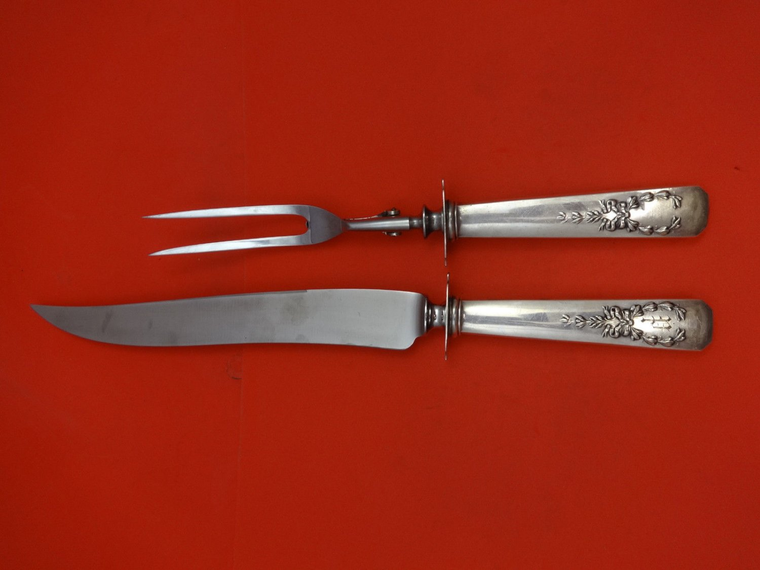 """Madam Jumel by  Whiting Sterling Silver Steak Carving Set 2 Piece 9 1/2"""" HHWS"""