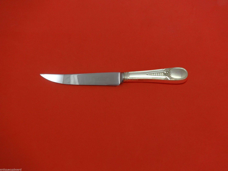 "Flowered Antique by Blackinton Sterling Silver Steak Knife 8 1/2"" HHWS  Custom"