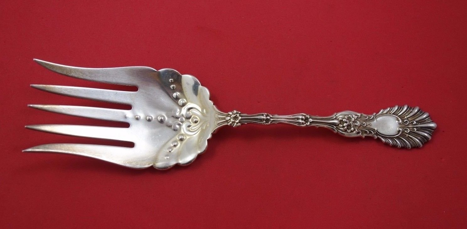 """Radiant by Whiting Sterling Silver Fish Serving Fork 5-Tine 9 1/4"""""""