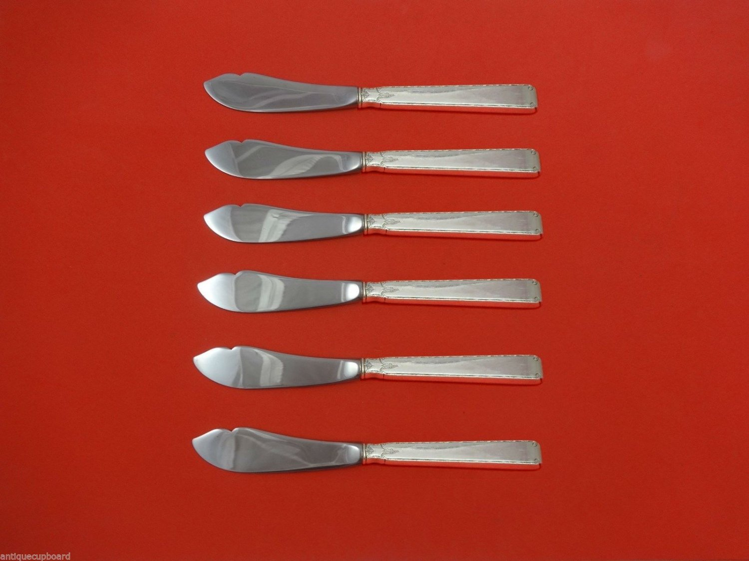 Old Lace by Towle Sterling Silver Trout Knife Set 6pc. HHWS  Custom Made 7 1/2""