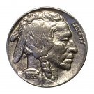 1935 Buffalo Nickel / 5C Five Cents - AU / Almost Uncirculated - Full Horn