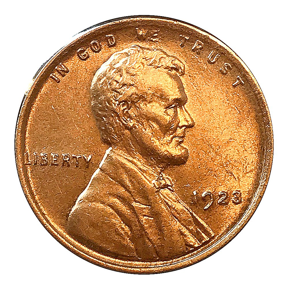 1923 P Lincoln Wheat Cent / Penny - Gem BU / MS RD / Unc - Luster