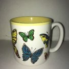Vintage 1988 Butterflies Potpourri Press Mug Yellow Interior