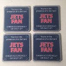 Tree-Free Greetings NFL New York Jets  Football Fan 4-Pack Artful Coaster Set