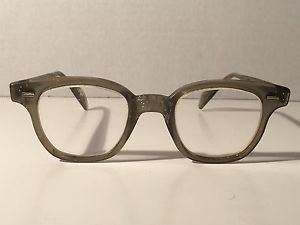 VTG Safety Glasses WM Welsh Mfg Co Horn Rimmed Aviator Geek Steampunk Cosplay
