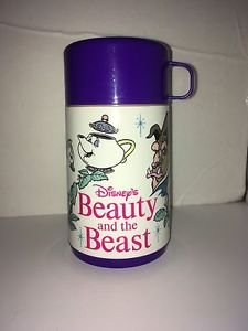 Vintage Beauty and the Beast Purple Aladdin Thermos 1992