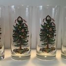 4 Georges Briard Yule Tide Yuletide Christmas Tree Cooler Tumblers