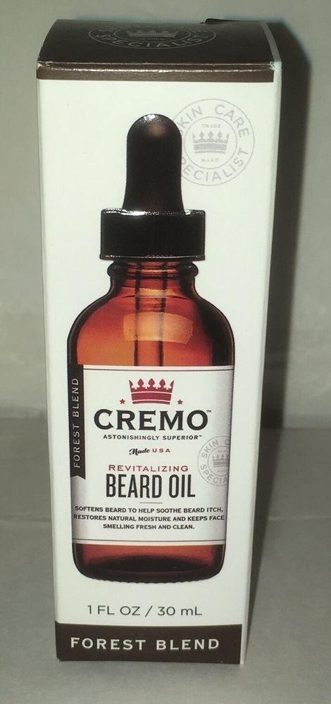NIP CREMO Revitalizing Beard Oil Astonishingly Superior 1 oz Bottle Forest Blend