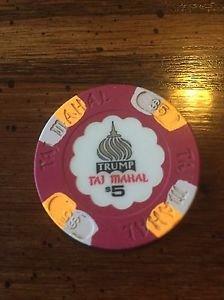 TRUMP Taj Mahal $5 Chip Atlantic City