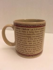 Russ Berrie Father's Day Mug Definition of Father Ceramic Coffee Tea Cup 8426