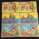 3 Sets of 2 VTG 1978 Disney Pepsi Mickey Mouse Goofy Ducks Birthday Placemats