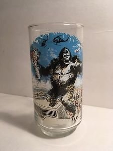 VTG Pair of 2 KING KONG Coca-Cola Glasses Dino De Laurentiis Corp Limited Ed