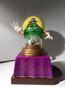 Mystic Gypsy Fortune Teller Psychic M&M Green Candy Dispenser