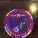 TRUMP Taj Mahal $5 Chip Atlantic City Commemorative Opening June 1993 Taj Poker