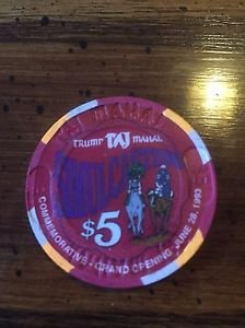 TRUMP Taj Mahal $5 Chip Atlantic City Commemorative Opening June 1993 Taj Poker