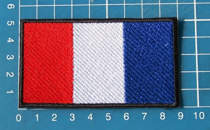 France Flag Military Tactical Army Patch Sew on Embroidery