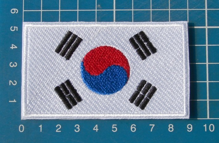Korean Flag Military Tactical Military Patch Sew on Embroidery