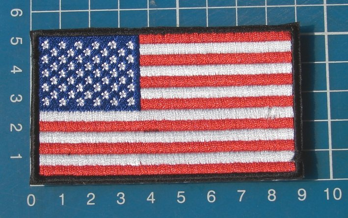 USA Flag Military Tactical Army Patch Sew on Embroidery