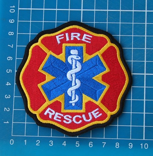 Fire Rescue Medical Patch Sew On Embroidery