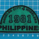 4x4 4 wheel drive Club angeles city Philippine sew on embroidery PATCH