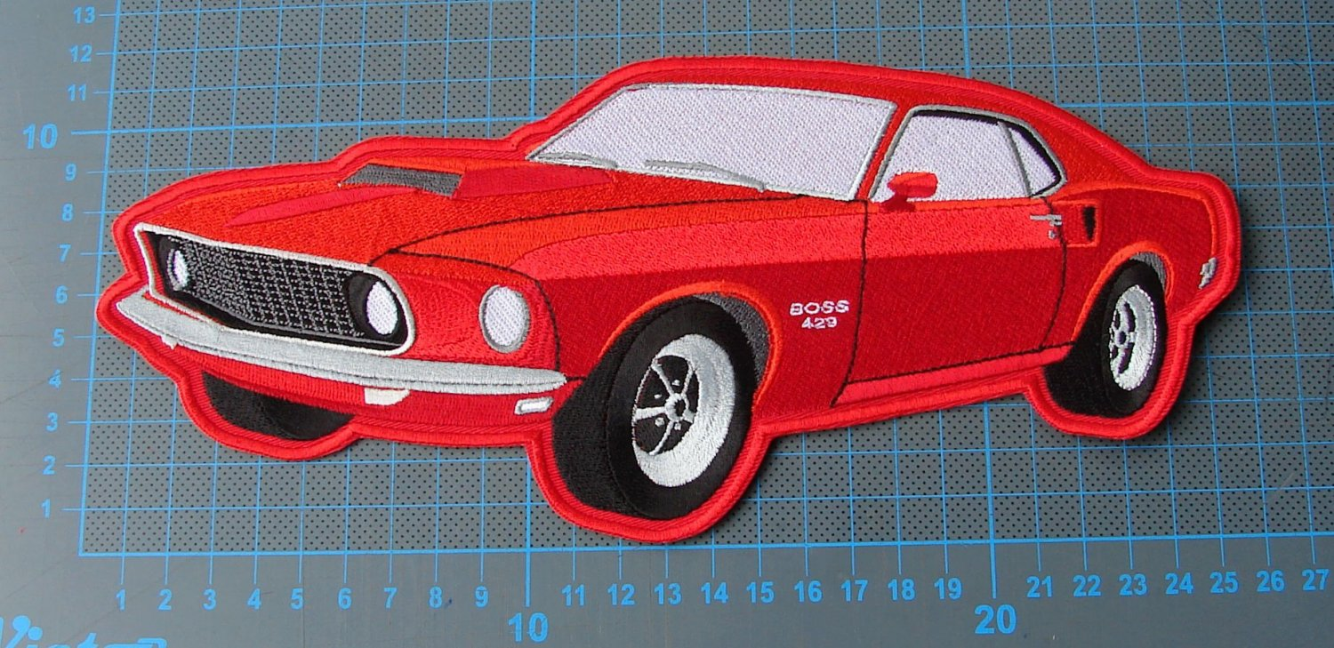 1969 Ford Mustang BOSS 429 huge seatvocer patch sew on embroidery