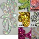 pair appliques sequins applikationen pailletten sew on embroidery handmade ap27